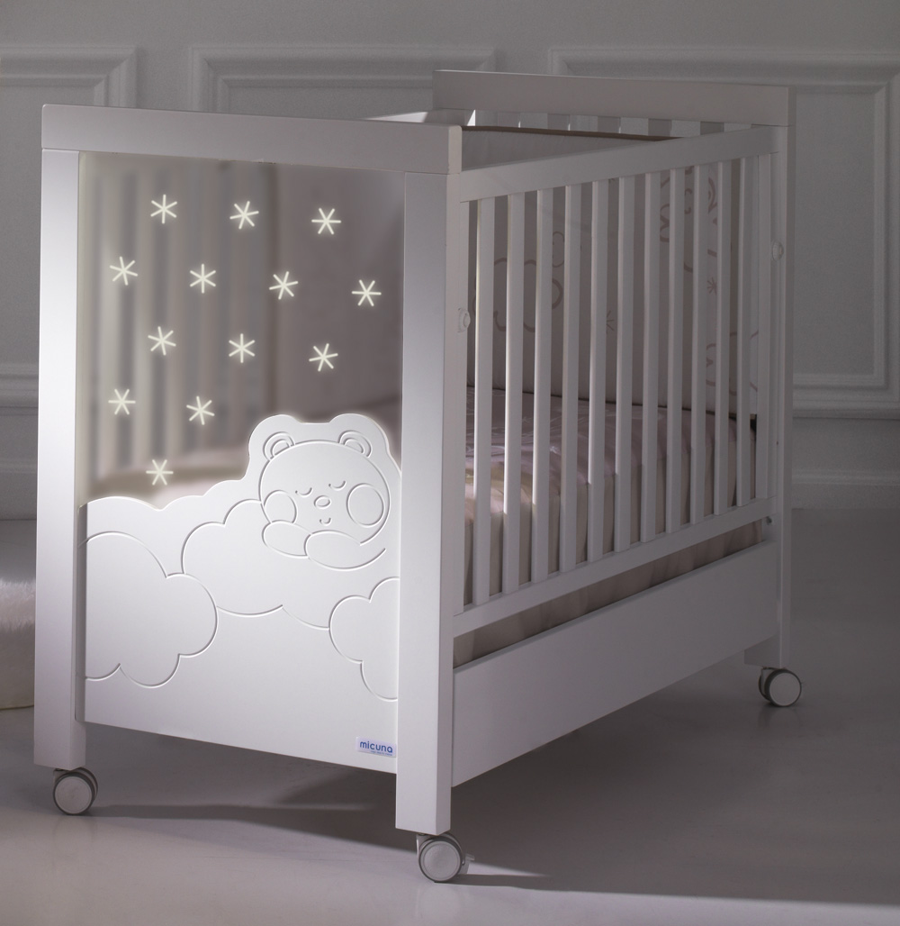 Cunas 60 x 120 : CUNA DOLCE LUCE CON LEDS + SOMIER INCLINABLE 120 X 60